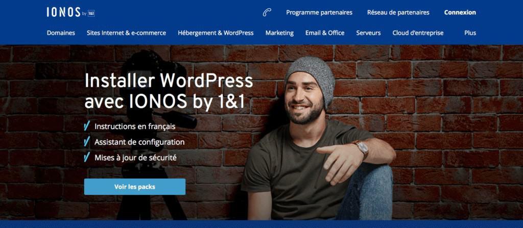 installer wordpress ionos 1&1