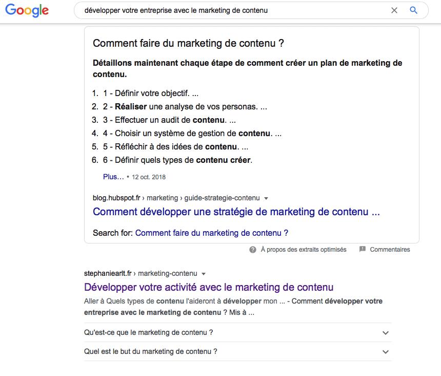 preuves résultats google
