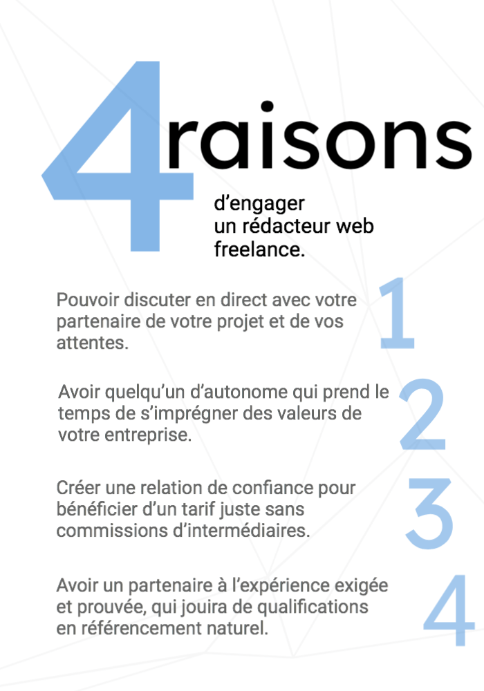 4 raisons d'engager un rédacteur web freelance